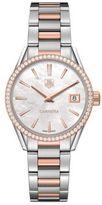 Tag Heuer Carrera 0.621 Diamonds, Steel and 18K Rose Gold Bracelet Watch, WAR1353BD0779