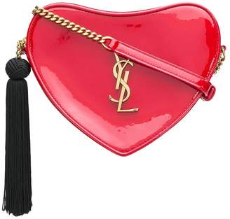Saint Laurent tasselled heart shaped shoulder bag