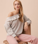 LOFT Lou & Grey Ruffle Off The Shoulder Sweatshirt