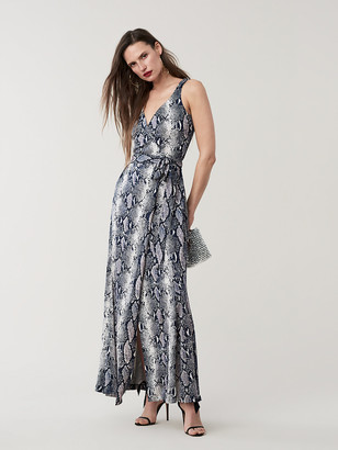 Diane von Furstenberg Elisha Silk-Jersey Maxi Wrap Dress