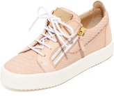 Giuseppe Zanotti Embossed Low Top Sneakers