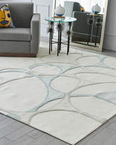 Global Views Abstract Hand-Tufted Rug 6' x 9'