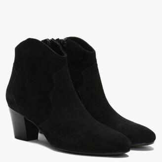 Daniel Barara Black Suede Western Ankle Boots