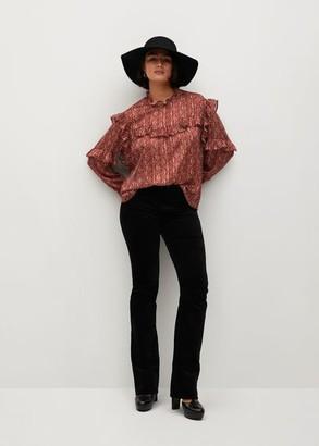 MANGO Paisley blouse with ruffles