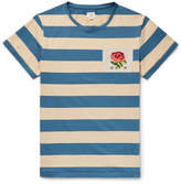 Kent & Curwen Appliquéd Striped Cotton-Jersey T-Shirt