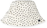 bonniemob Reversible Bunny-Print Baby Bucket Hat, Gray/White
