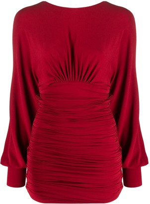 Alexandre Vauthier V-back ruched mini dress