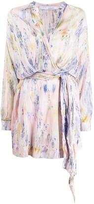 IRO Keita abstract-print wrap dress