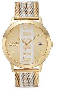 Versace Versus Barbes Mesh Silicone Strap Logo Detail Watch 44mm
