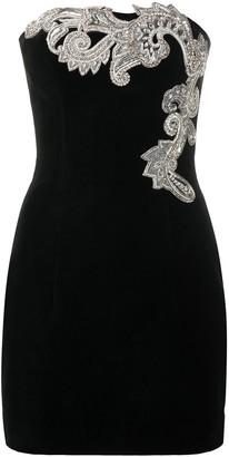 Balmain Embellihsed Strapless Mini Dress