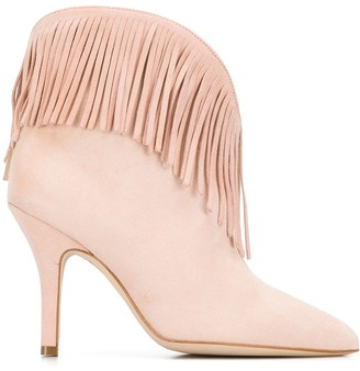 Paris Texas Fringed Ankle Boots