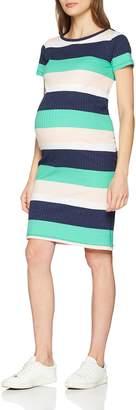 Mama Licious Mamalicious Women's Mlaura S/s Abk Dress A. Multicoloured (Black Iris Stripes:y/d) 12 (Size: 38 M)