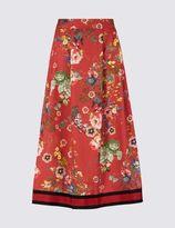 Marks and Spencer Floral Print Skater Skirt