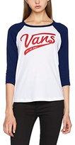 Vans Vans_Apparel Women's Batter up 3 Raglan T-Shirt,6 (Manufacturer Size:)