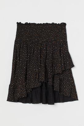 H&M MAMA Flounce-trimmed Skirt - Black
