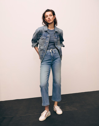 Madewell Curvy Classic Straight Jeans in Meadowland Wash
