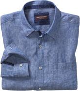 Johnston & Murphy Dot-Print Washed Linen Shirt