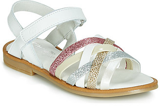 Citrouille et Compagnie JIRAFOU girls's Sandals in White