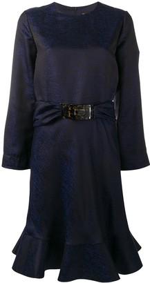 Giorgio Armani belted peplum dress