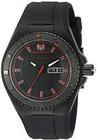 Technomarine Men's Quartz Watch with Black Dial Analogue Display and Black Silicone Strap TM-115167