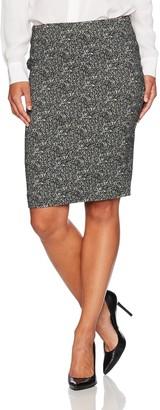 Kasper Women's Petite Woven Jacquard Slim Skirt