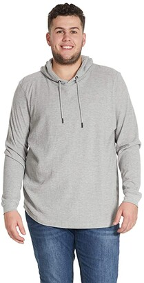 Johnny Bigg Big Tall Memphis Waffle Hoodie (Grey) Men's Clothing