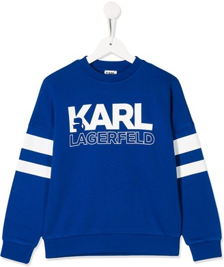 Karl Lagerfeld Paris logo crew neck sweatshirt