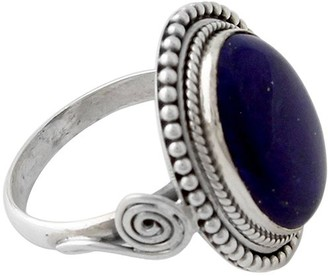 Novica Artisan Crafted Sterling Lapis Ring