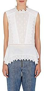 Isabel Marant Women's Nust Embroidered Voile Top-White