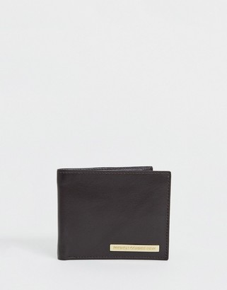French Connection weave texture leather wallet