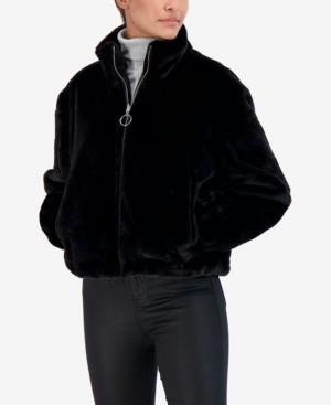 Sebby Junior's Reversible Faux Fur Bomber