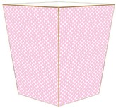The Well Appointed House Pink Polka Dot Decoupage Wastebasket and Optional Tissue Box