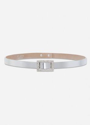 St. John Metallic Leather Belt
