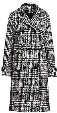 Akris Punto Women's Glen Check Stretch Wool Trench Coat