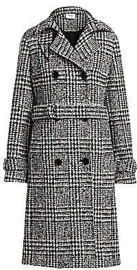 Akris Punto Women's Glen Check Stretch Wool Trench Coat
