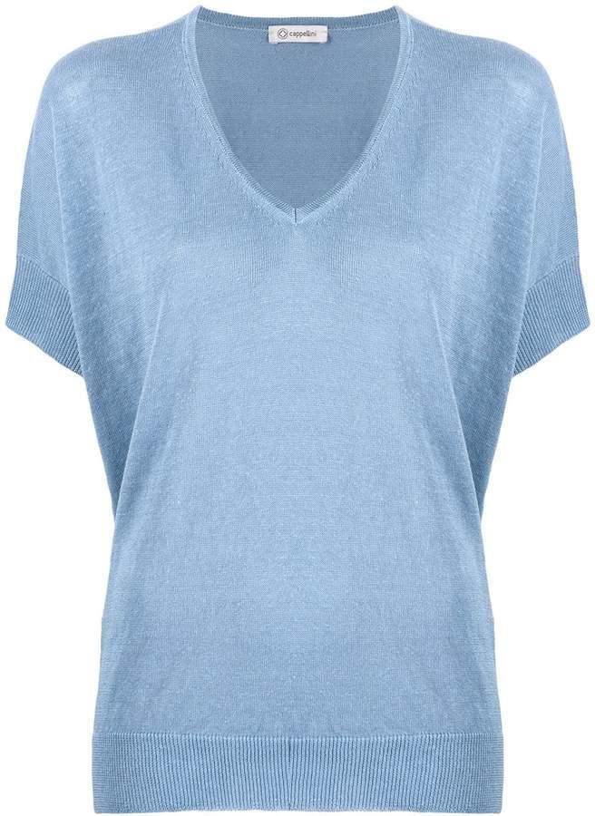Peserico V neck knit top