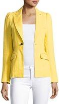 Smythe Mildred One-Button Blazer, Yellow