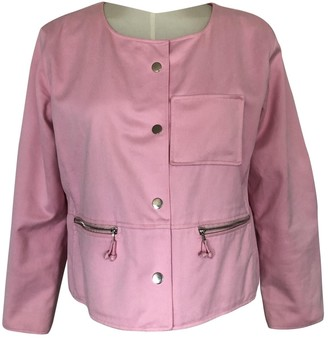 Courreges Pink Cotton Jacket for Women Vintage