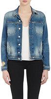 L'Agence Women's Denim Celine Jacket-BLUE
