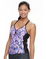 Free Country Women's Printed T-Back Tankini Top