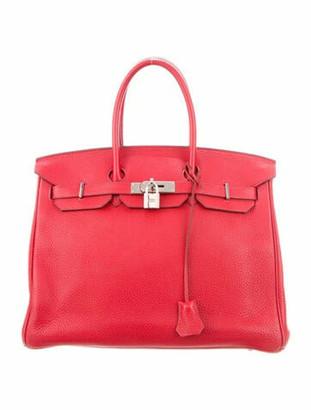 Hermes Clemence Birkin 35 Rouge