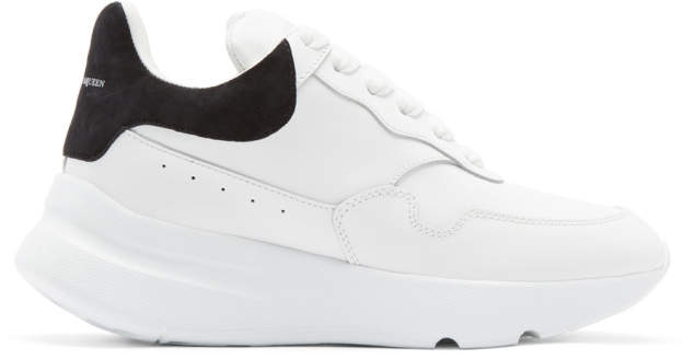 Alexander McQueen White New Oversized Sneakers