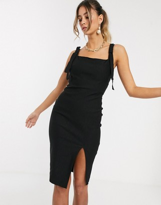 Vesper square neck bodycon midi dress