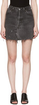 RE/DONE Re-done Black Denim High-rise Miniskirt