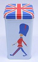 MY British Soldier & Flag Designed Oblong Tall Storage Tin Box 3208