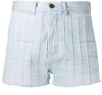 Saint Laurent High Waist Denim Shorts