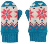 Petit Bateau Girls mittens with jacquard pattern