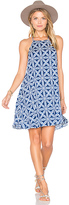 Show Me Your Mumu Katy Halter Dress in Blue. - size L (also in M,S,XS)