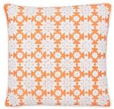 Thread Work Silk Throw Pillow Sivaana