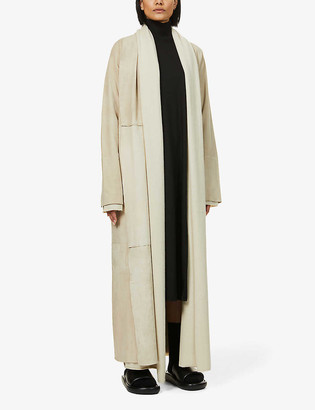 Frenckenberger Shawl-lapel cashmere and suede coat